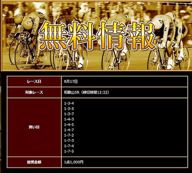 日本競輪投資会2020年8月17日無料予想